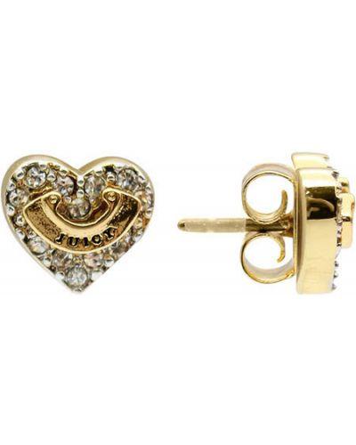 Серьги серебряный золотой Juicy Couture