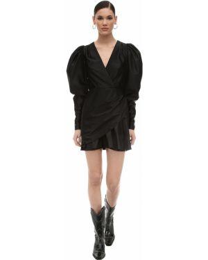 Платье мини с V-образным вырезом со складками Rotate