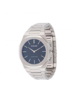 Кожаные часы - серебряные D1 Milano