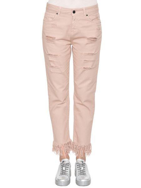 Хлопковые розовые джинсы Up Jeans