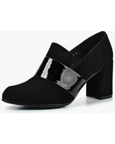 Кожаные туфли осенние на каблуке La Grandezza