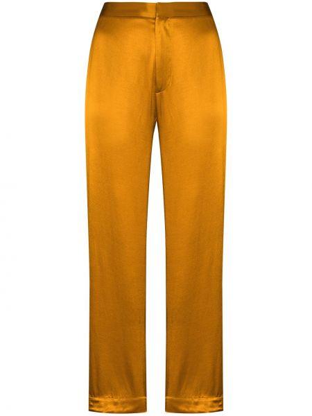 Желтые прямые брюки с карманами Asceno