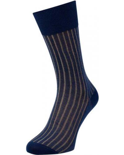 Niebieskie skarpety bawełniane Falke