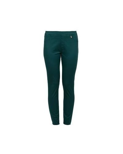 Хлопковые зеленые джинсы Baroni