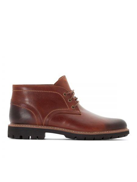 Кожаные ботинки высокие замшевые Clarks