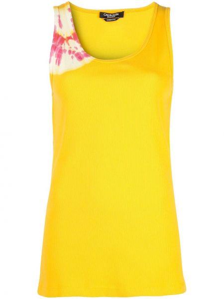 Żółty top bez rękawów bawełniany Calvin Klein 205w39nyc