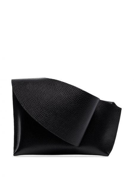 Кожаная черная сумка Venczel