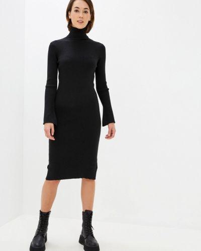 Вязаное черное платье Rodier