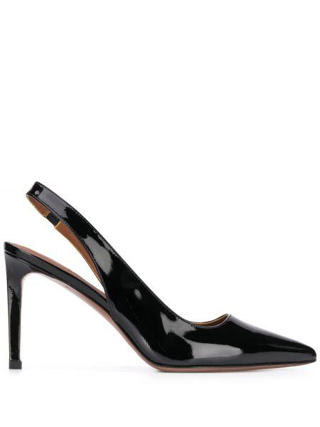 Черные туфли-лодочки на каблуке с острым носом L'autre Chose