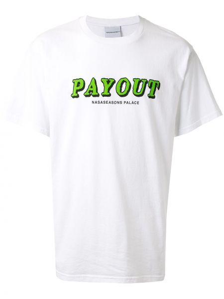 Белая хлопковая футболка свободного кроя с круглым вырезом Nasaseasons
