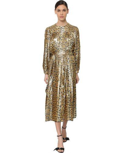 Платье миди с длинными рукавами - золотое Marc Jacobs