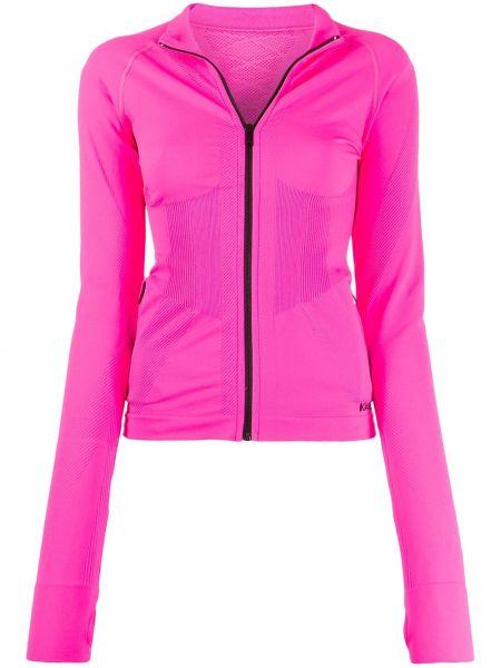 Długa kurtka różowy z haftem Karl Lagerfeld