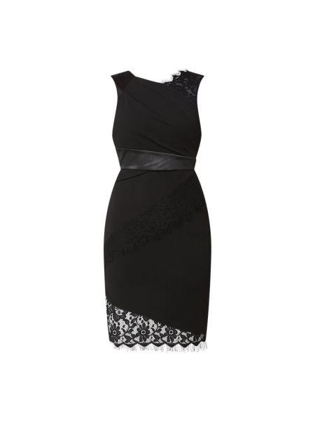 Czarna sukienka koktajlowa koronkowa bez rękawów Lipsy