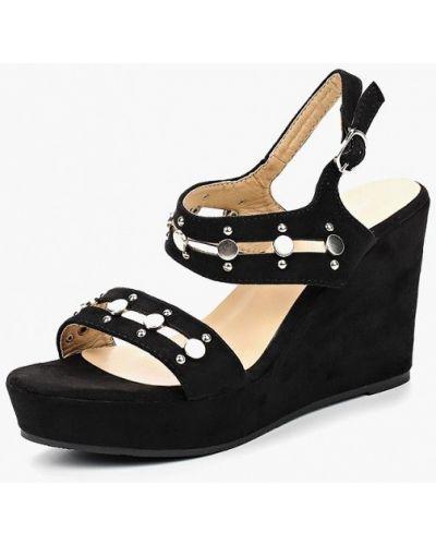 Черные босоножки на каблуке Super Mode