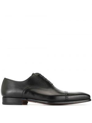 Черные классические туфли на каблуке на шнуровке Magnanni