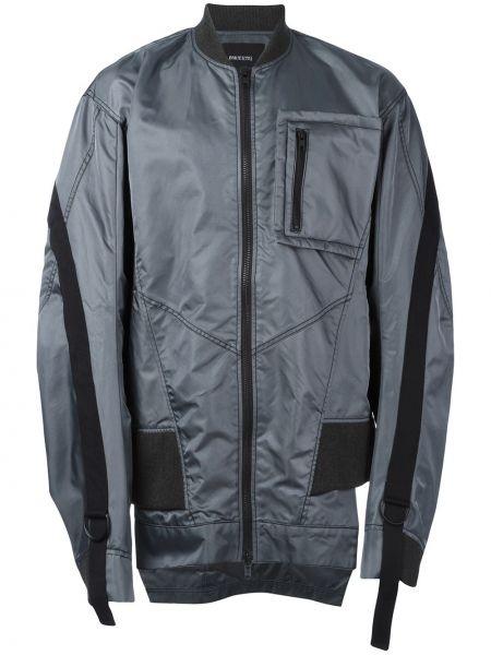 Długa kurtka z nylonu z długimi rękawami oversize Bmuet(te)