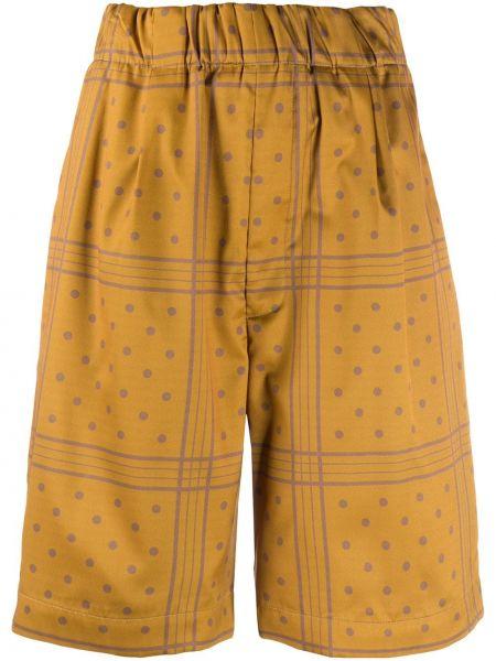 Желтые хлопковые шорты с карманами Jejia