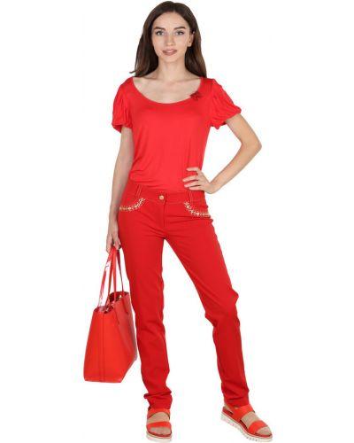 Красная футболка из вискозы Roccobarocco
