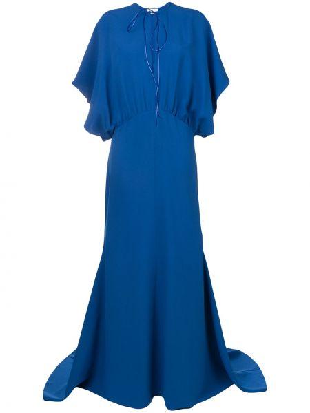 Пышное приталенное платье с декольте летучая мышь Esteban Cortazar