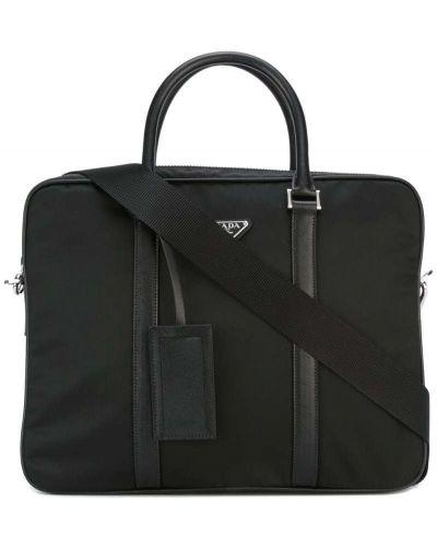 Кожаная сумка для ноутбука из полиэстера Prada