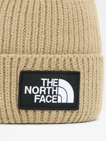 Шапка бини с манжетами - коричневая The North Face