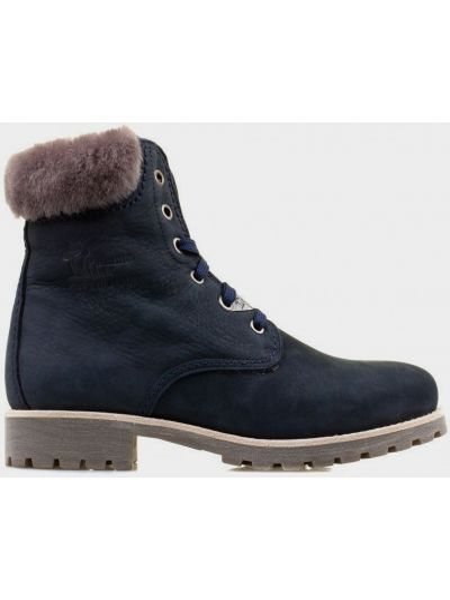 Кожаные ботинки - синие Panama Jack