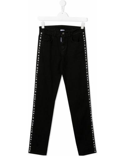 Prosto bawełna bawełna jeansy o prostym kroju z kieszeniami Gaelle Paris Kids