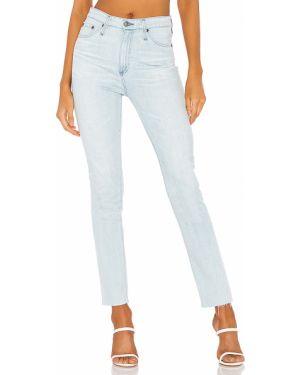 Klasyczne niebieskie jeansy bawełniane Ag Adriano Goldschmied