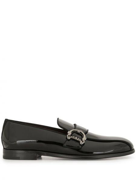 Черные кожаные лоферы без застежки Dolce & Gabbana