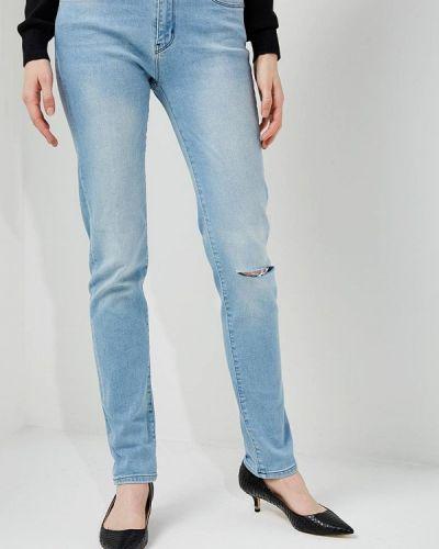 Голубые джинсы-скинни Love Moschino
