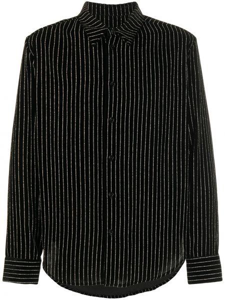 Czarna klasyczna koszula z długimi rękawami z wiskozy Garçons Infideles