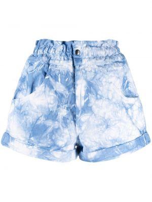 Niebieskie szorty bawełniane z printem Forte Dei Marmi Couture