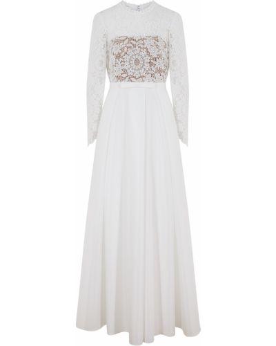 Платье с поясом - белое Self-portrait