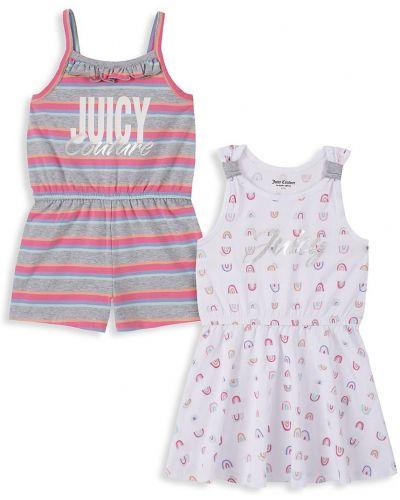Розовое платье без рукавов в полоску Juicy Couture