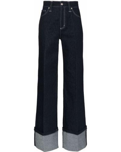 Хлопковые синие джинсы свободного кроя Chloé