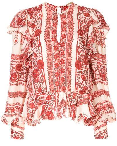 Блузка с длинным рукавом с рюшами на пуговицах Johanna Ortiz