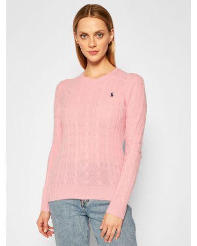 Prosto różowy kaszmir sweter Polo Ralph Lauren