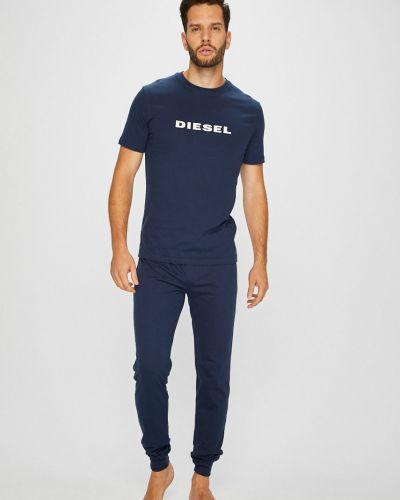 Пижама с принтом синий Diesel