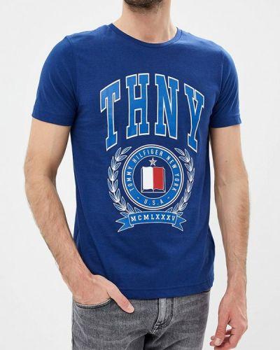 Синяя футболка 2019 Tommy Hilfiger