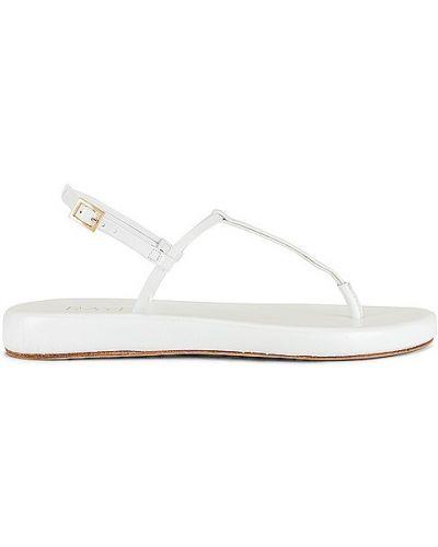 Białe sandały na platformie skorzane Raye