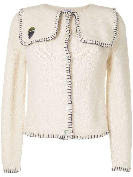 Biały sweter z haftem Shrimps