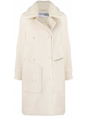 Шерстяное пальто Courrèges