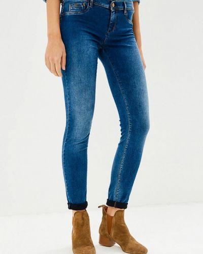 Синие джинсы-скинни Gas