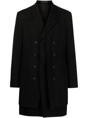 Czarna kurtka wełniana Yohji Yamamoto
