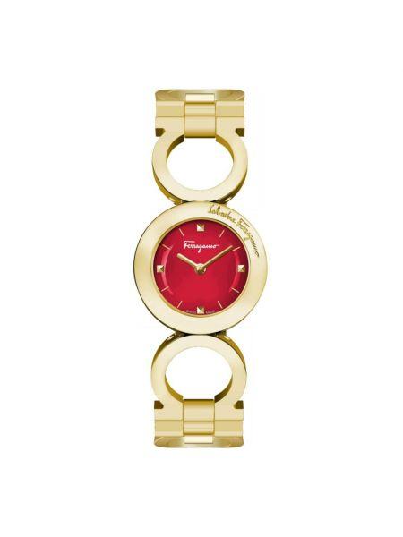 Żółty zegarek Salvatore Ferragamo