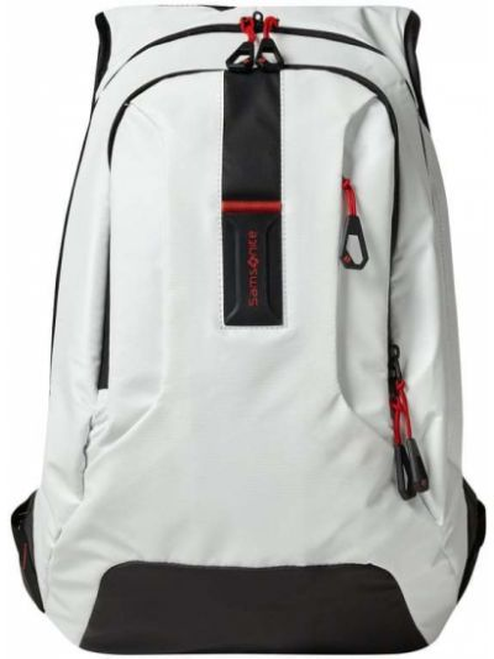 Biały plecak na laptopa z nylonu Samsonite