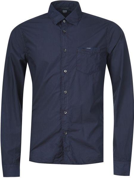 Синяя рубашка хлопковая C.p. Company