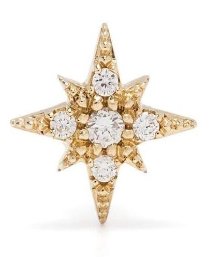 Żółte złote kolczyki z diamentem Mizuki