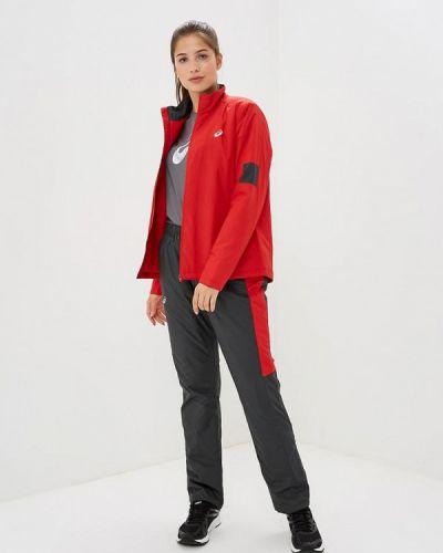 Спортивный костюм красный теплый Asics