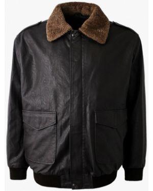 Кожаная куртка осенняя коричневый Maxfort
